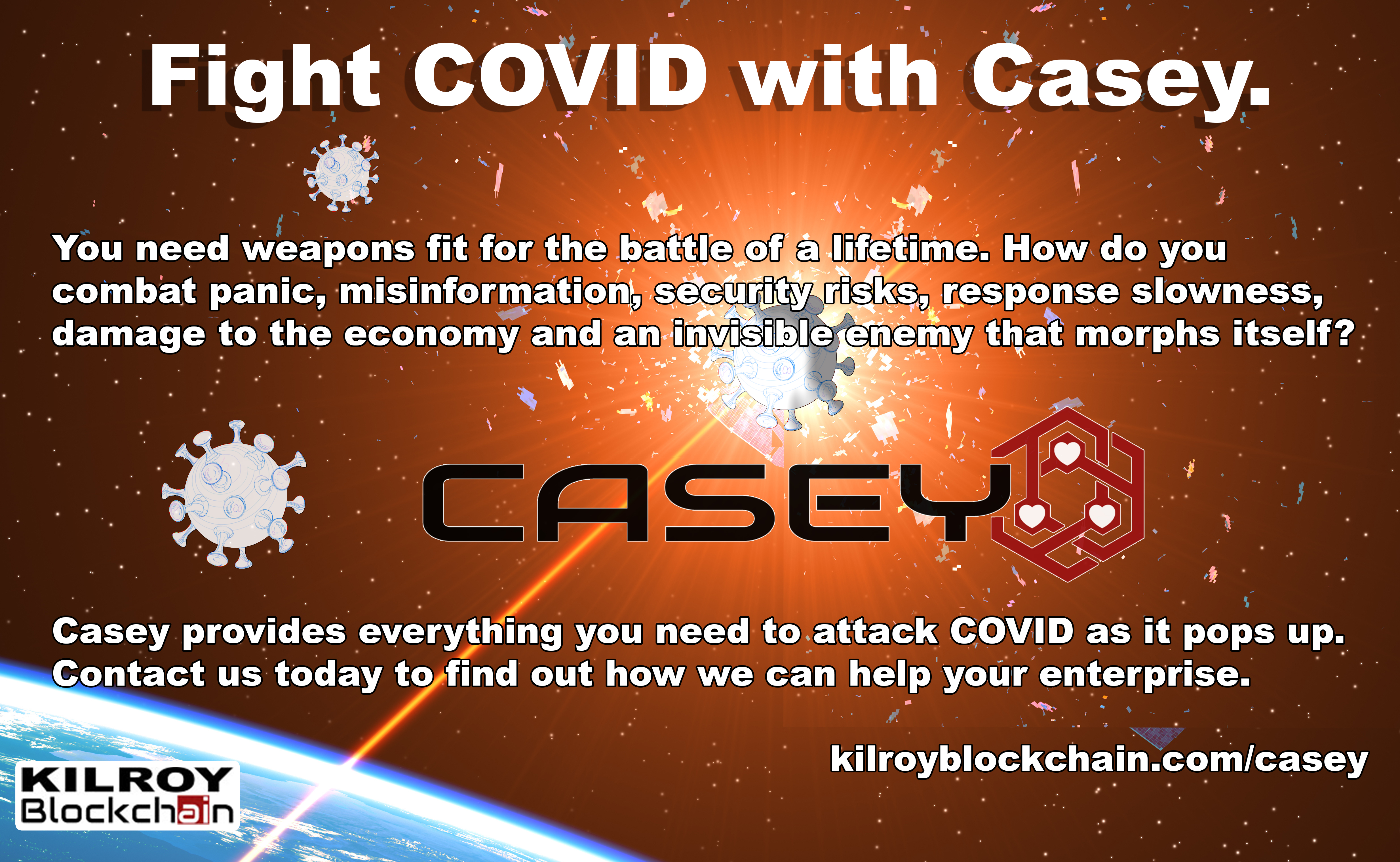 Fight COVID with Casey by Kilroy Blockchain